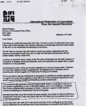 Letter was sent by IFJ