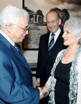 Abbas at Olmert's house
