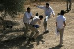 American pogroms beating a Palestinians journalist in Hebron