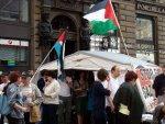 Outside Palestinian Tent at Stephansplatz