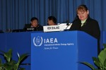 The representative of New Zealand during the 54 IAEA conference 2010.