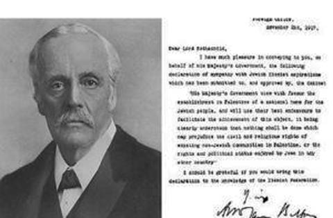 Lord Balfour and his shameful declaration.