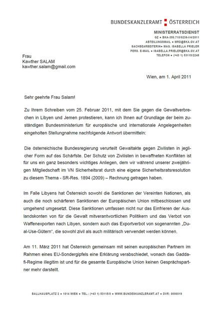 Offener Brief An Die österreichische Regierung Europa Middle