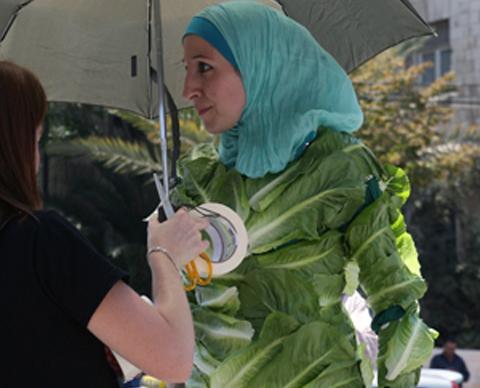 Amina Tariq, Jordanian Lettuce Lady.