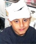Motaz Al-Khawaja, 10, another victim of Aviv Reshef.