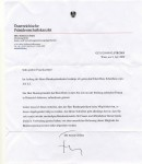 Prisident letter