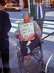 A Vietnam Veteran begging in New York, 1998.