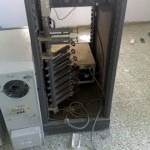 Al-Majed TV telecasting system vandalized by the Israeli soldiers and police (Credit - Tariq Al-Kayal)