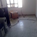Equipment room of Al-Majed TV after the Israelis ransacked it (Credit - Tariq Al-Kayal)
