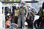 The israeli friends of Europe, capturing children who will be raped in their jails (Pic Credit: Palestinian newspapers)