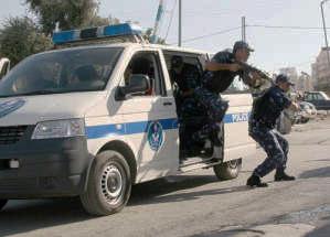 palestinian police shooting