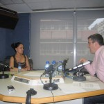 Giving a Radio interview